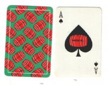 Advertising collectable playing cards  Watney's red Barrel beer
